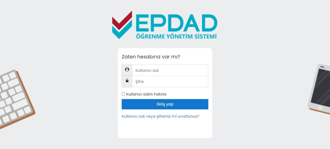 EPDAD Learning Management System Opened