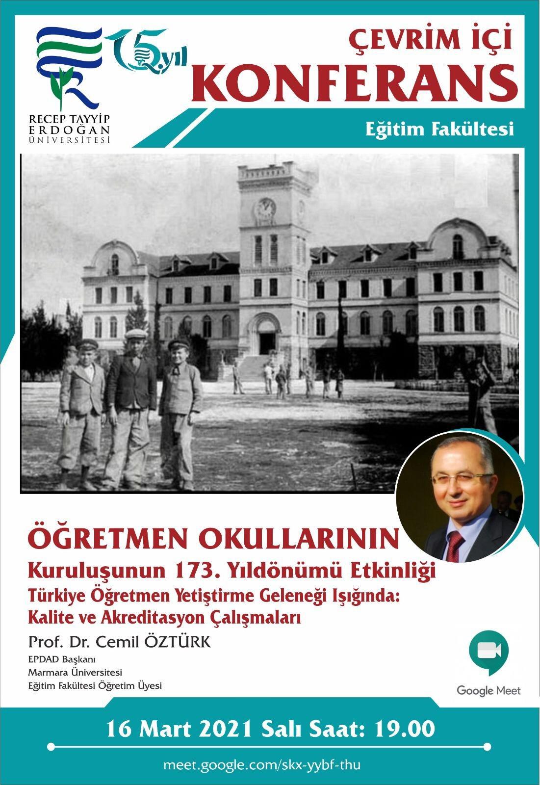 EPDAD Başkanı Prof. Dr. Cemil Öztürk