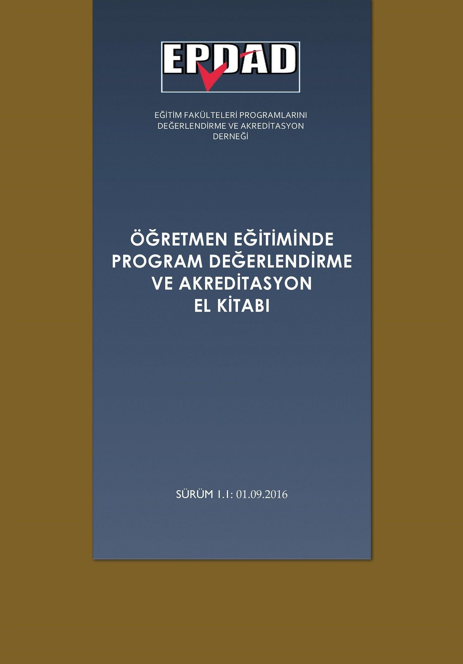 Öğretmen Eğitiminde Program Değerlendirme ve Akreditasyon El Kitabı